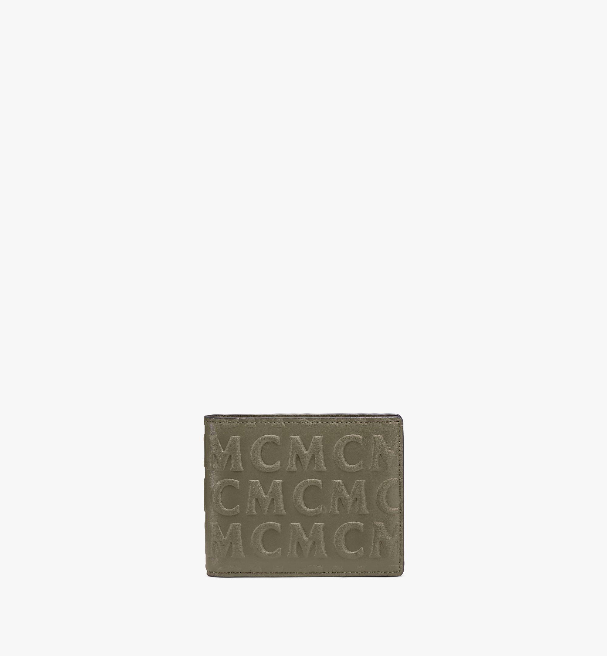 MCM 花押字圖案 MCM 皮革兩折式錢包 Green MXSAAMD01JH001 更多視圖 1