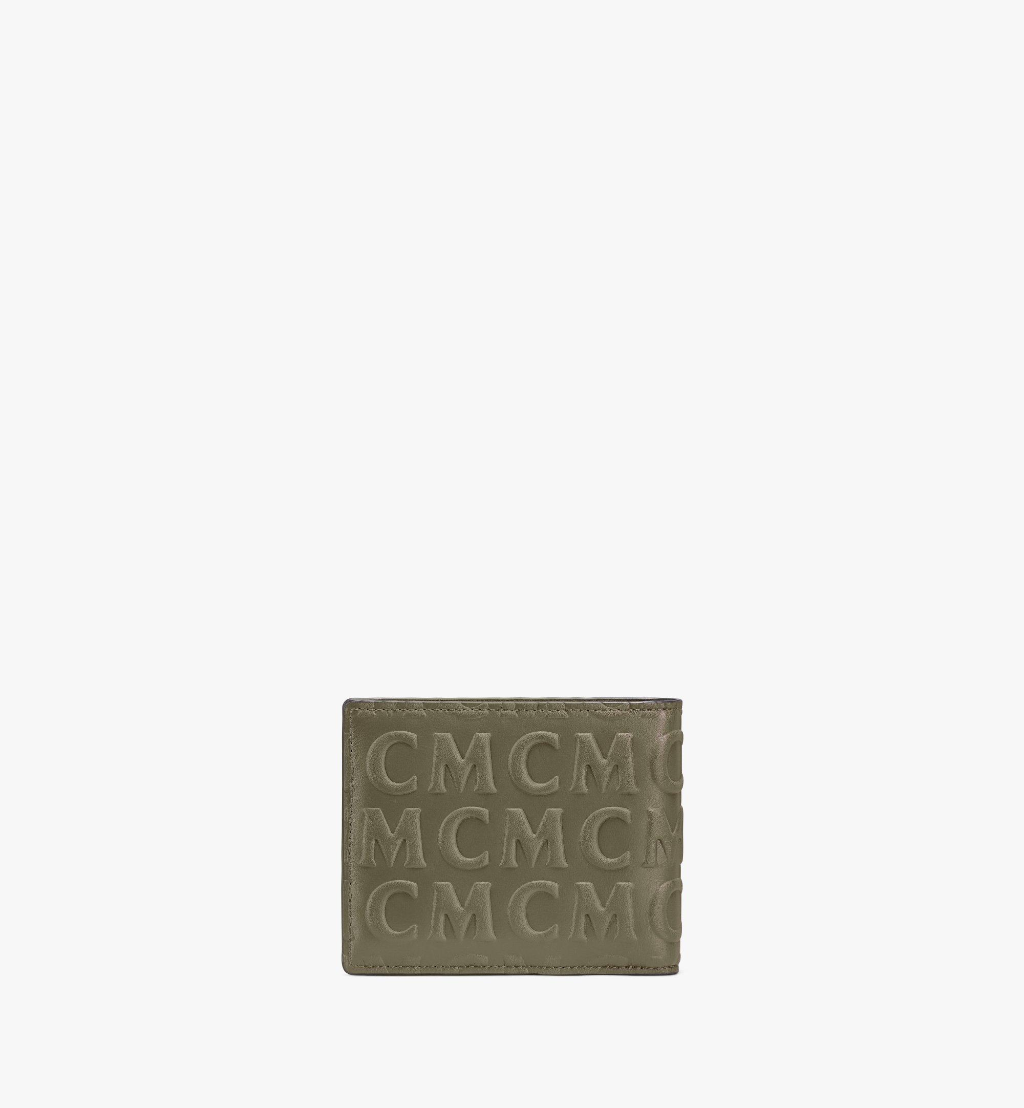 MCM 花押字圖案 MCM 皮革兩折式錢包 Green MXSAAMD01JH001 更多視圖 2