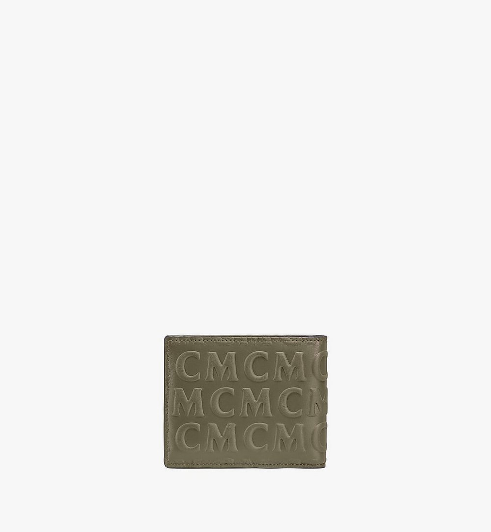 MCM Bifold Wallet in MCM Monogram Leather Green MXSAAMD01JH001 Alternate View 2