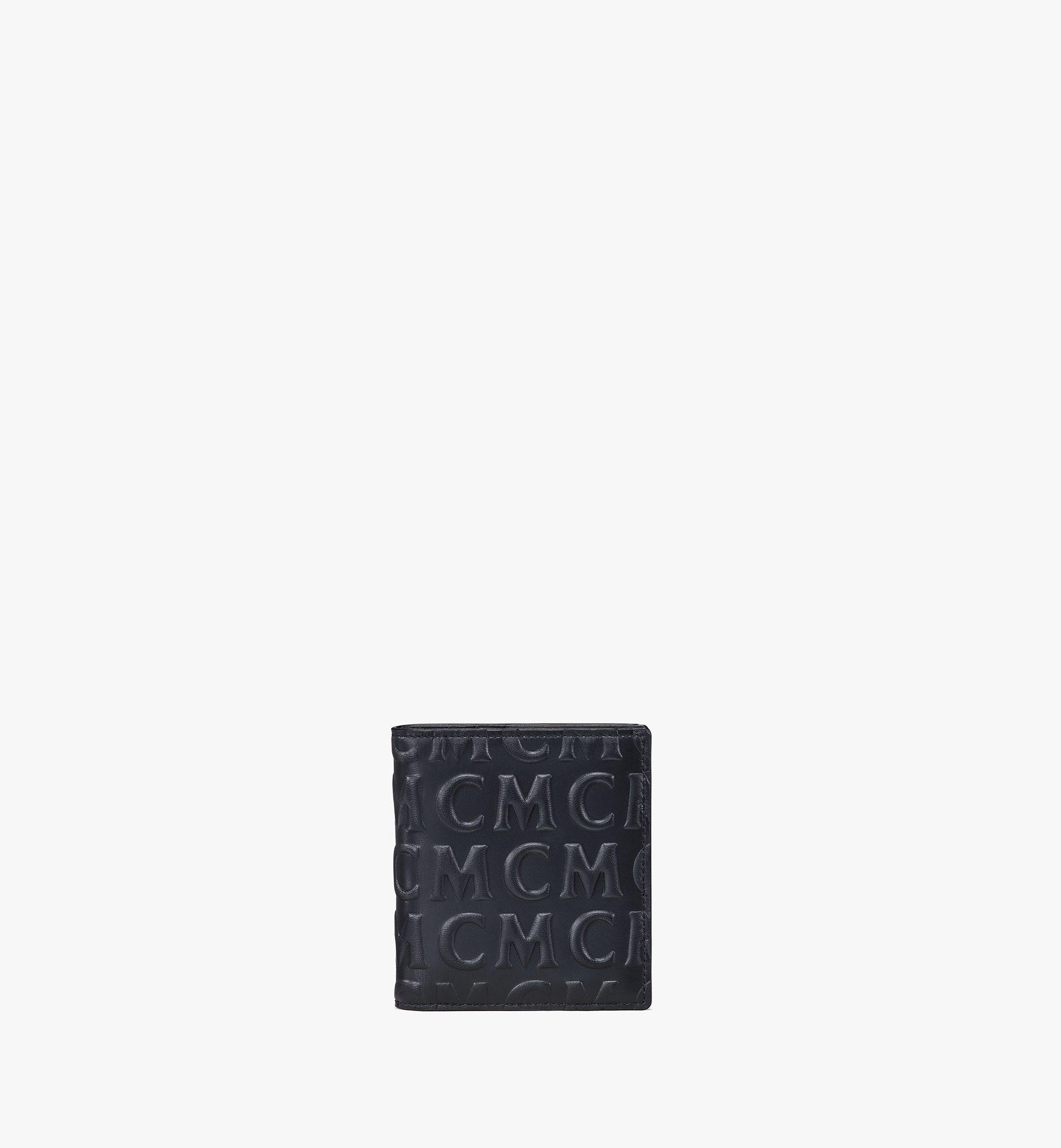 MCM Gefaltete Lederbrieftasche mit MCM-Monogramm Black MXSAAMD02BK001 Noch mehr sehen 1