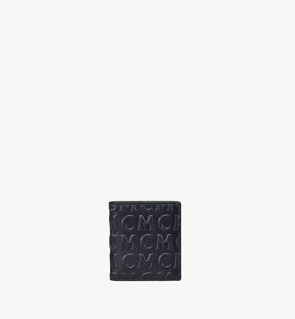 MCM Bifold Card Wallet in MCM Monogram Leather Black MXSAAMD02BK001 Alternate View 1