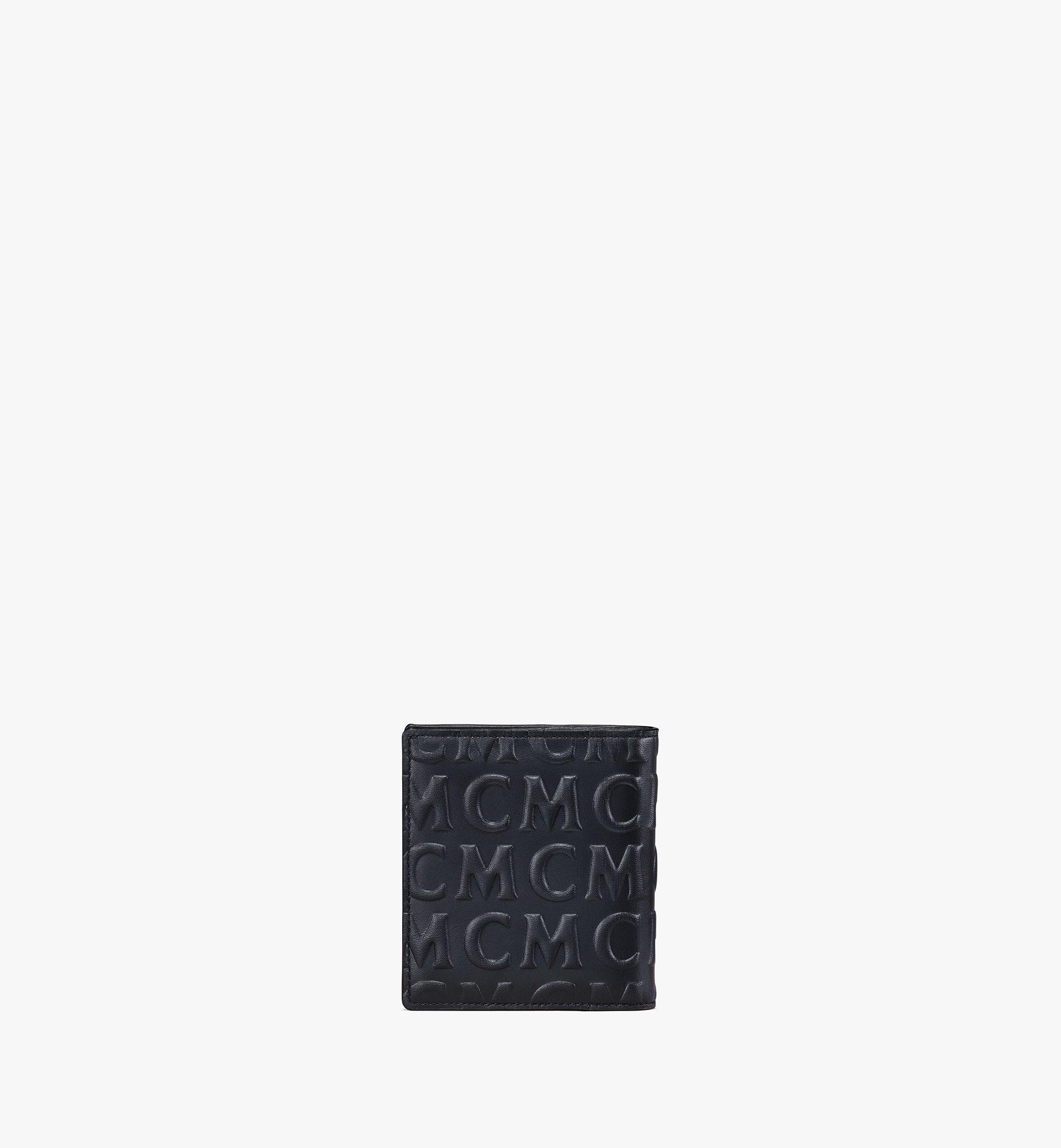 MCM Gefaltete Lederbrieftasche mit MCM-Monogramm Black MXSAAMD02BK001 Noch mehr sehen 2