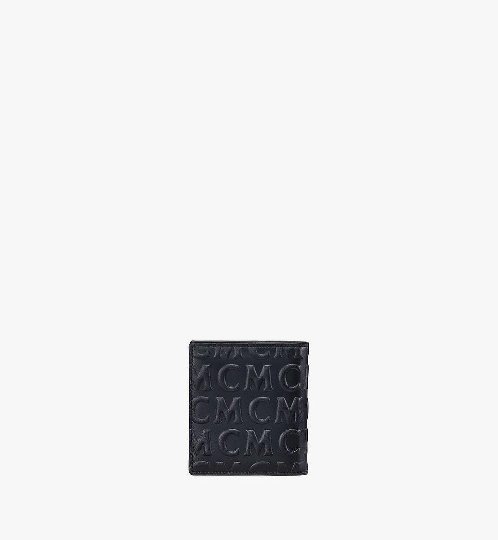MCM Bifold Card Wallet in MCM Monogram Leather Black MXSAAMD02BK001 Alternate View 2