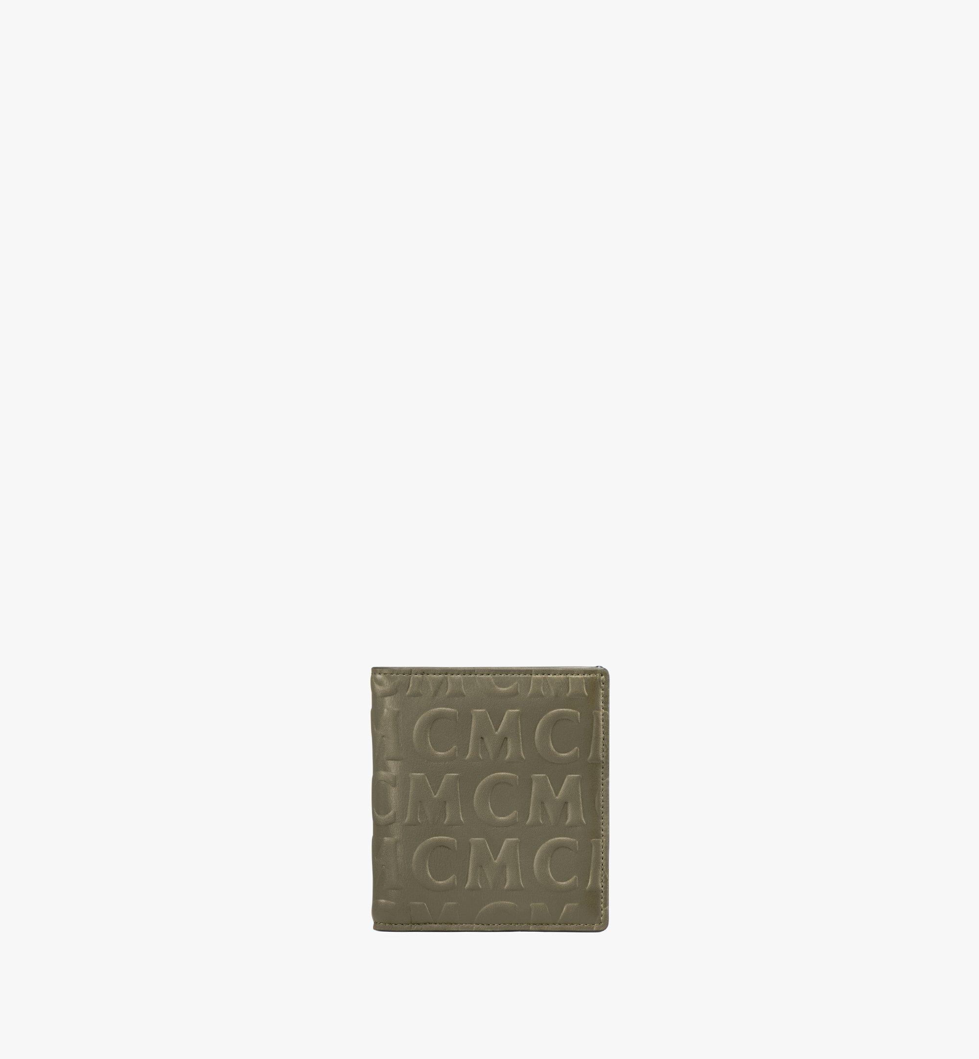 MCM Bifold Card Wallet in MCM Monogram Leather Green MXSAAMD02JH001 Alternate View 1