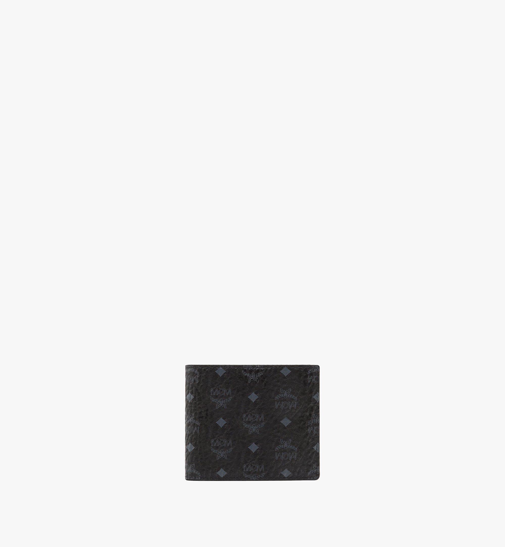 MCM Bifold Wallet w/ Coin Pocket in Visetos Original Black MXSAAVI01BK001 Alternate View 1