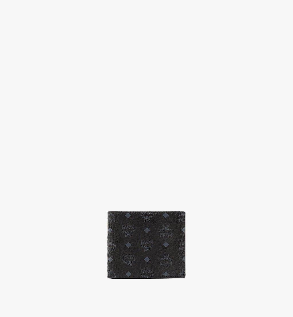MCM Bifold Wallet w/ Coin Pocket in Visetos Original Cognac MXSAAVI01BK001 Alternate View 1
