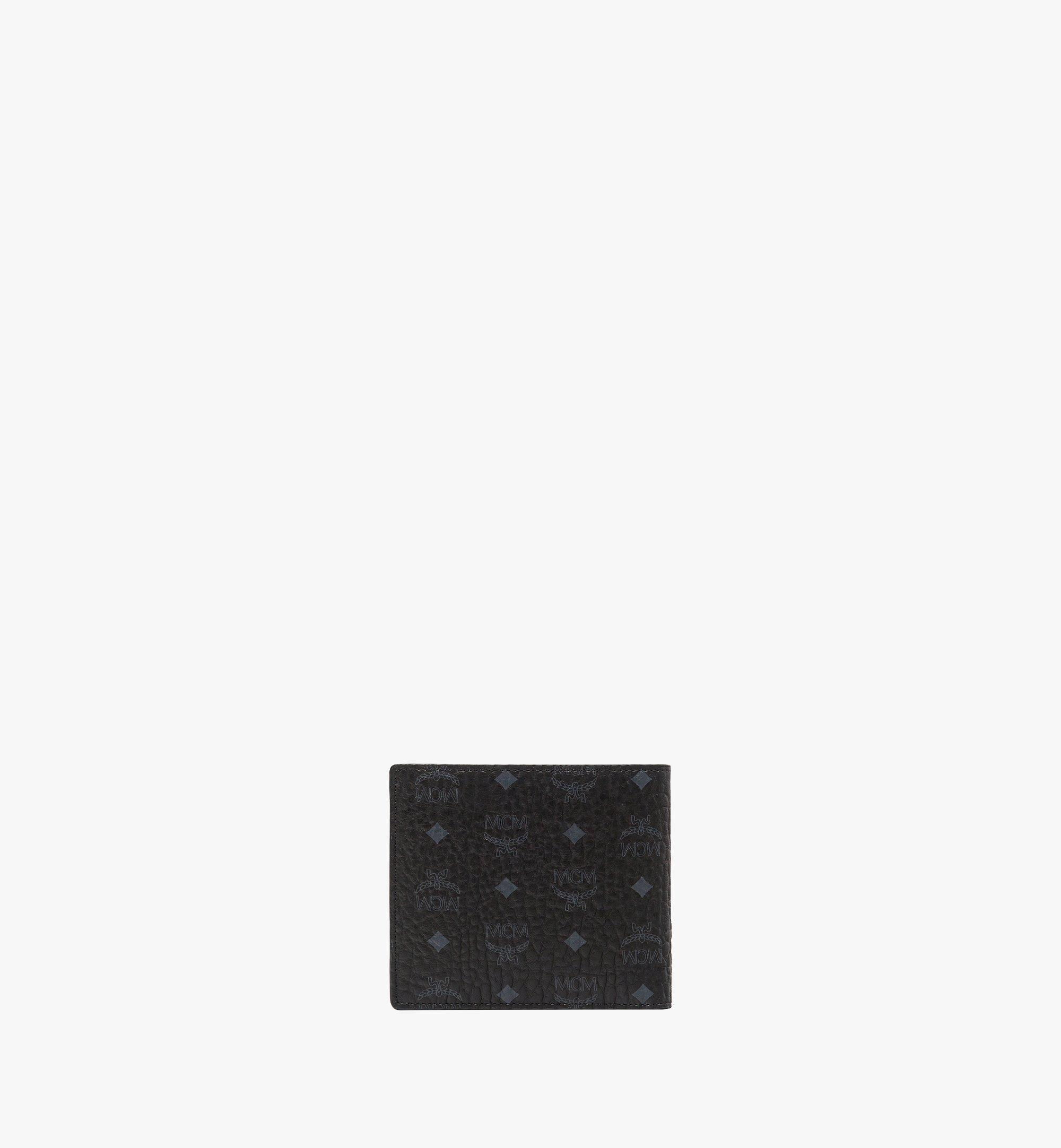 MCM Bifold Wallet w/ Coin Pocket in Visetos Original Black MXSAAVI01BK001 Alternate View 2