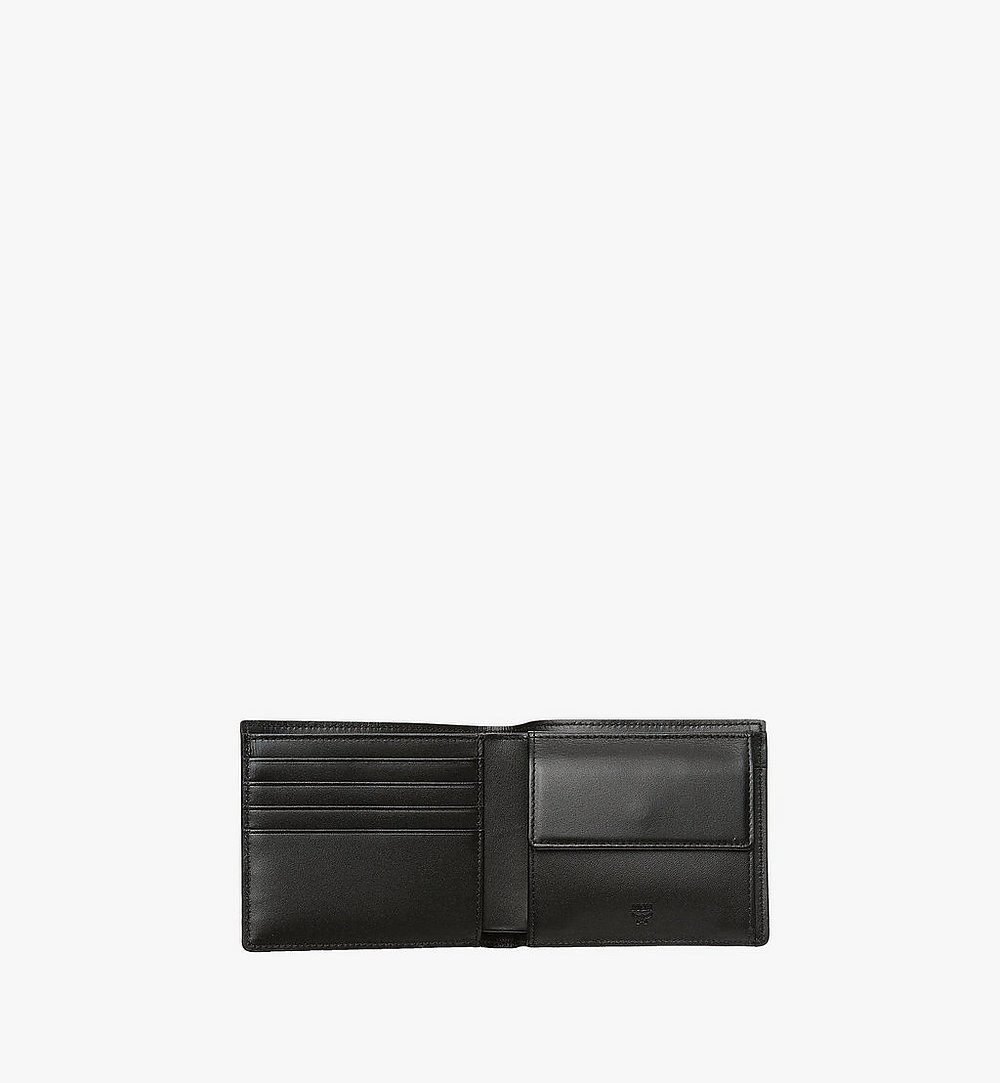 MCM Bifold Wallet w/ Coin Pocket in Visetos Original Black MXSAAVI01BK001 Alternate View 3