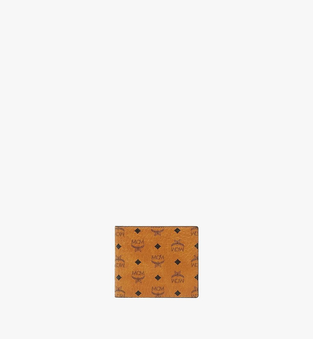 MCM Portefeuille à deux volets avec poche zippée en Visetos Original Black MXSAAVI01CO001 Plus de photos 1