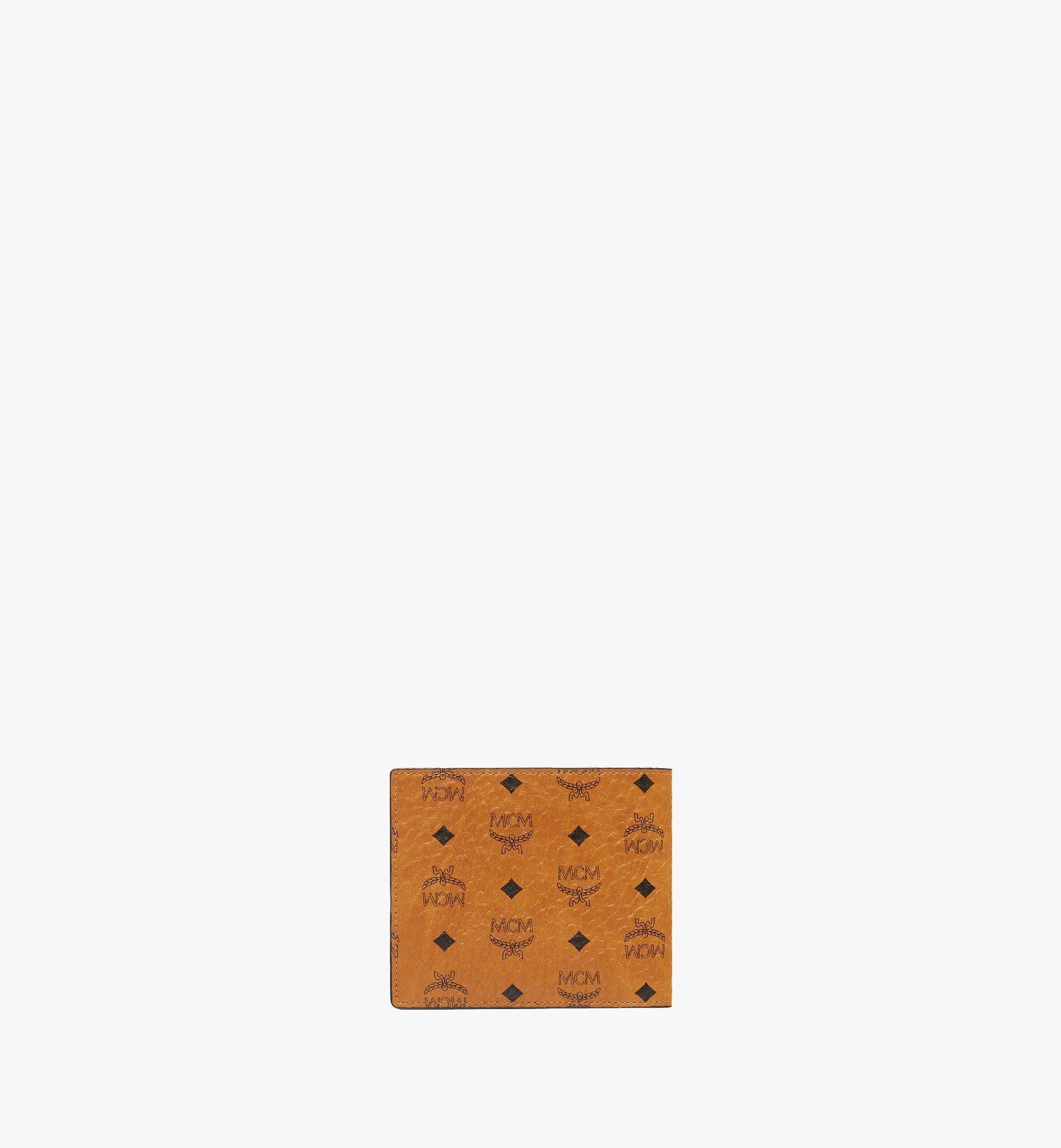 MCM Gefaltete Brieftasche mit Münzfach in Visetos Original Cognac MXSAAVI01CO001 Noch mehr sehen 2