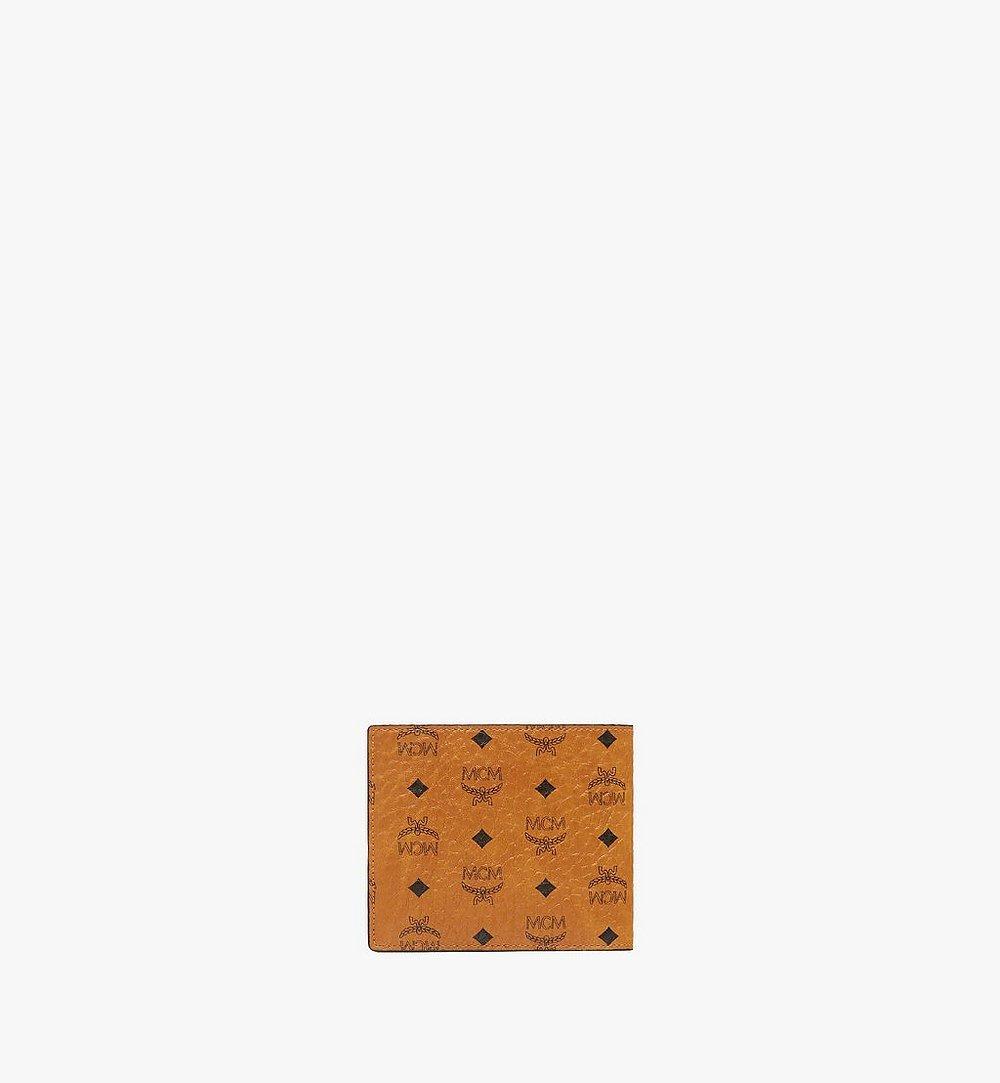 MCM Portefeuille à deux volets avec poche zippée en Visetos Original Black MXSAAVI01CO001 Plus de photos 2