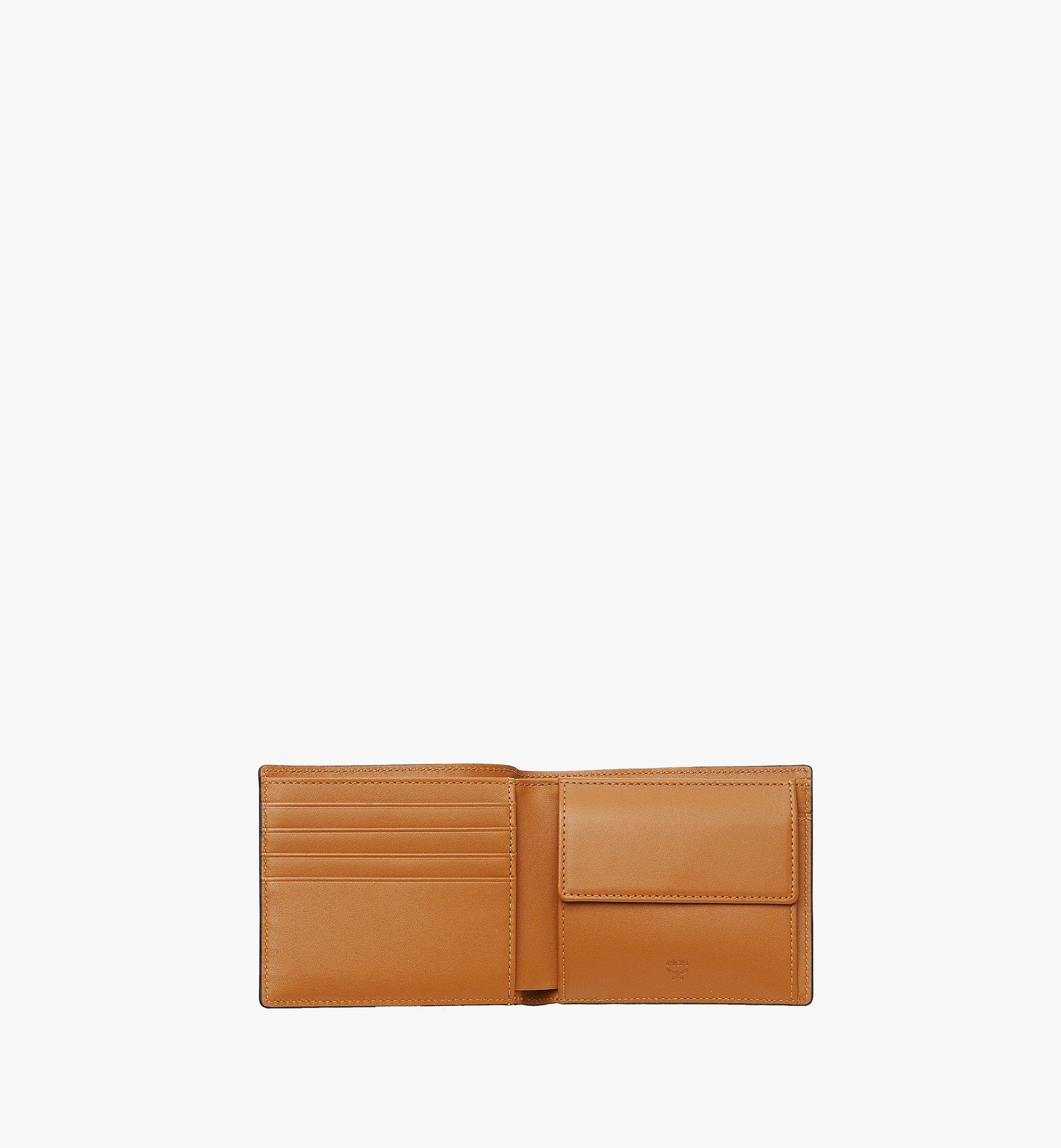 MCM Gefaltete Brieftasche mit Münzfach in Visetos Original Cognac MXSAAVI01CO001 Noch mehr sehen 3
