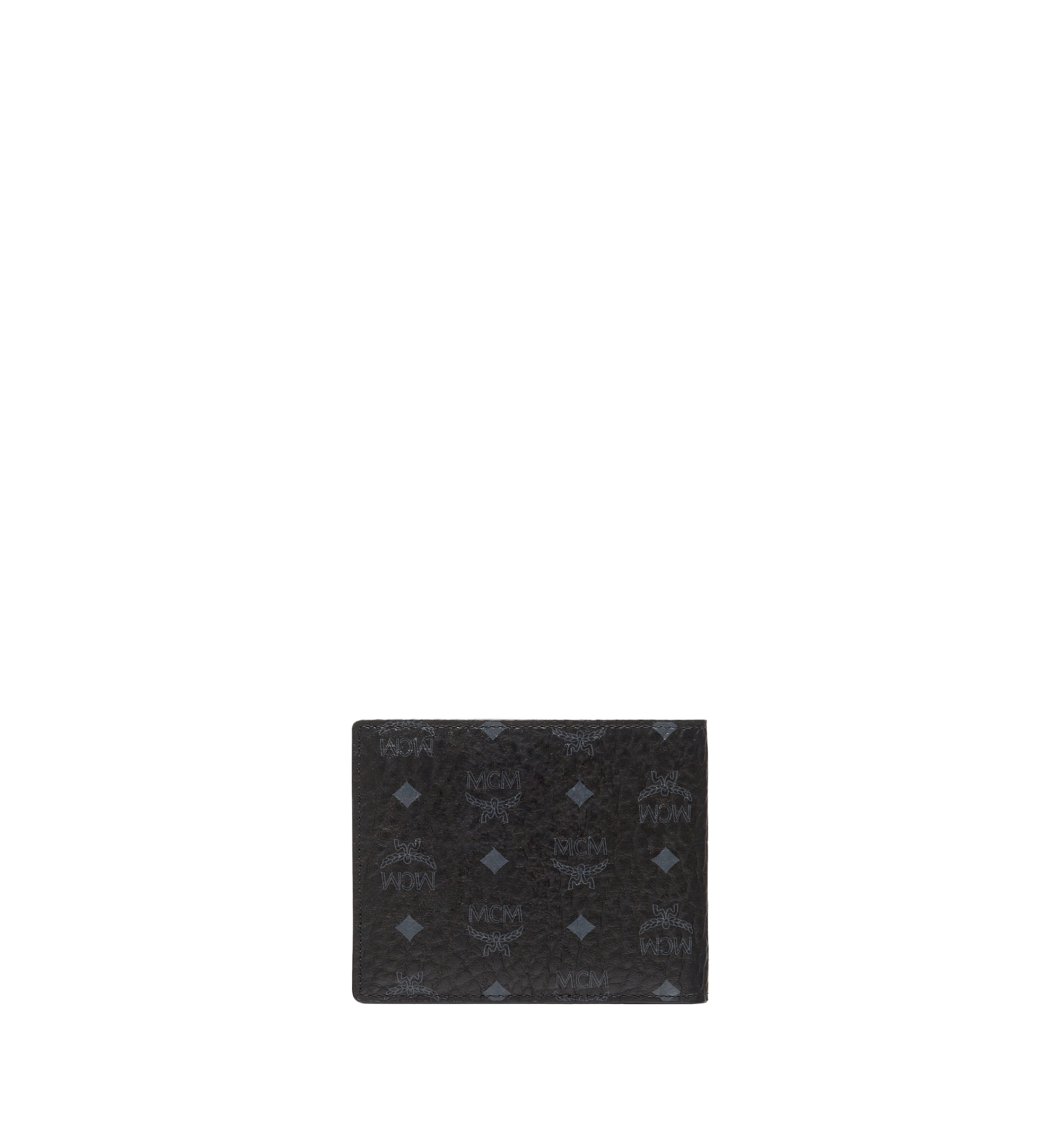 MCM Bifold Wallet with Card Case in Visetos Original Black MXSAAVI02BK001 Alternate View 1
