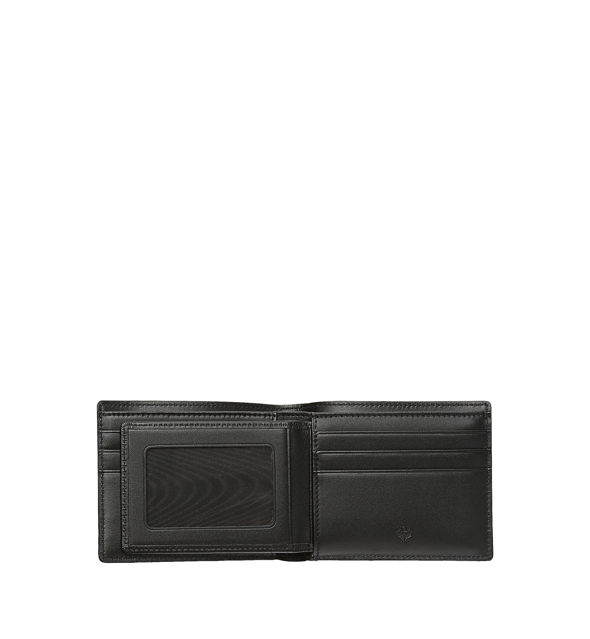 MCM Bifold Wallet with Card Case in Visetos Original Black MXSAAVI02BK001 Alternate View 2