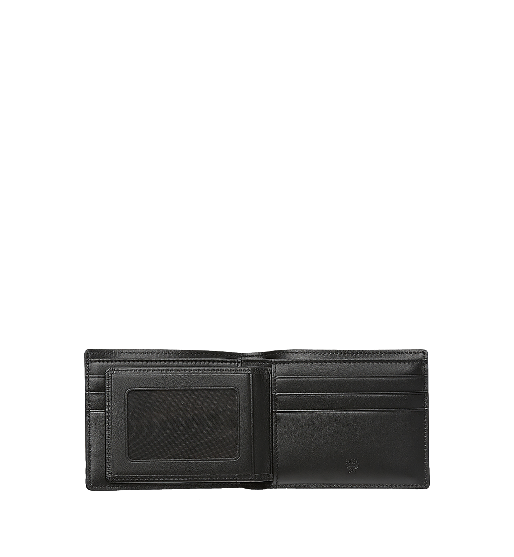 MCM Bifold Wallet with Card Case in Visetos Original Black MXSAAVI02BK001 Alternate View 2