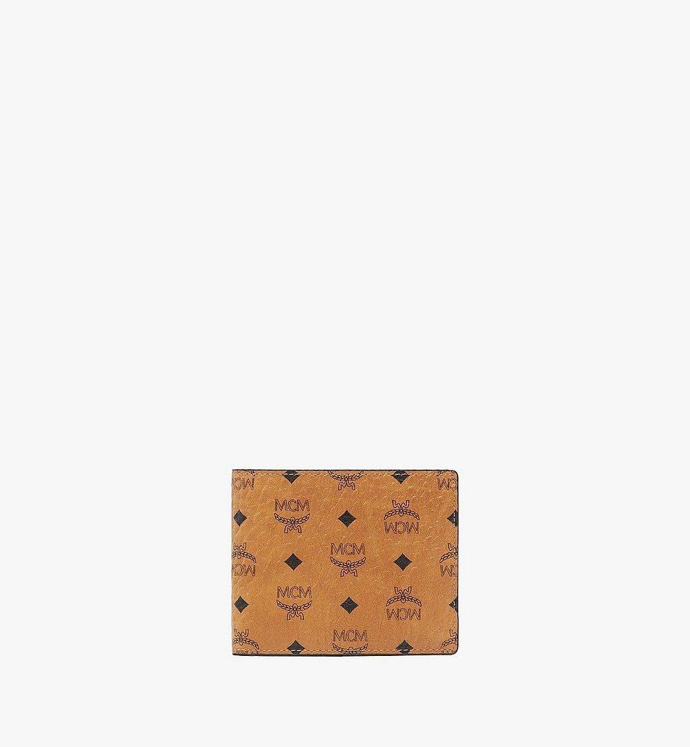 MCM Bifold Wallet with Card Case in Visetos Original Cognac MXSAAVI02CO001 Alternate View 1