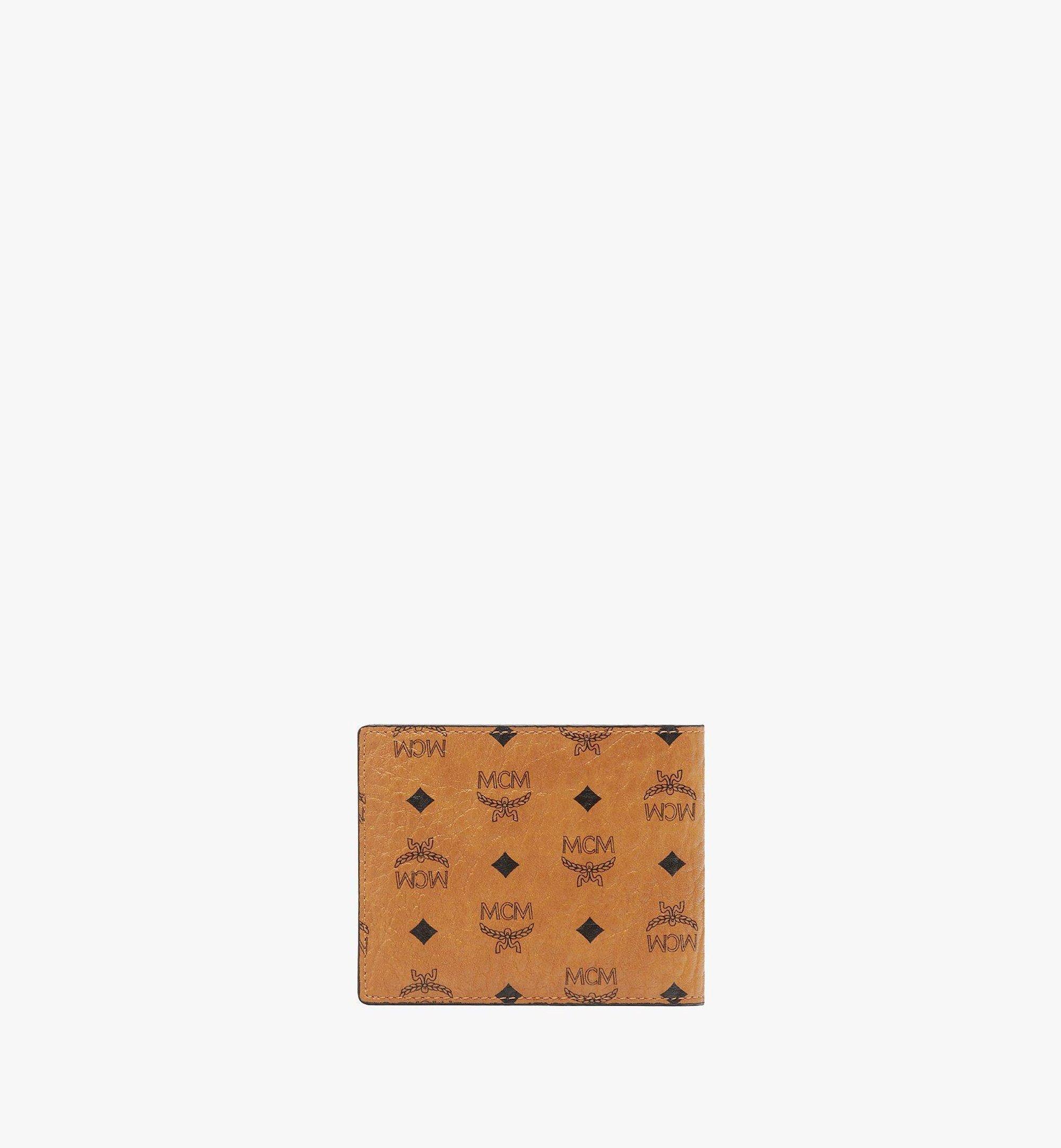 MCM Visetos Original 系列雙折卡片夾錢包 Cognac MXSAAVI02CO001 更多視圖 2
