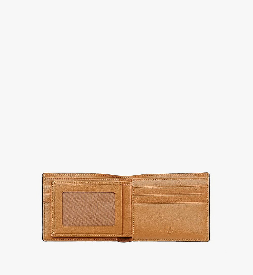 MCM Bifold Wallet with Card Case in Visetos Original Cognac MXSAAVI02CO001 Alternate View 3