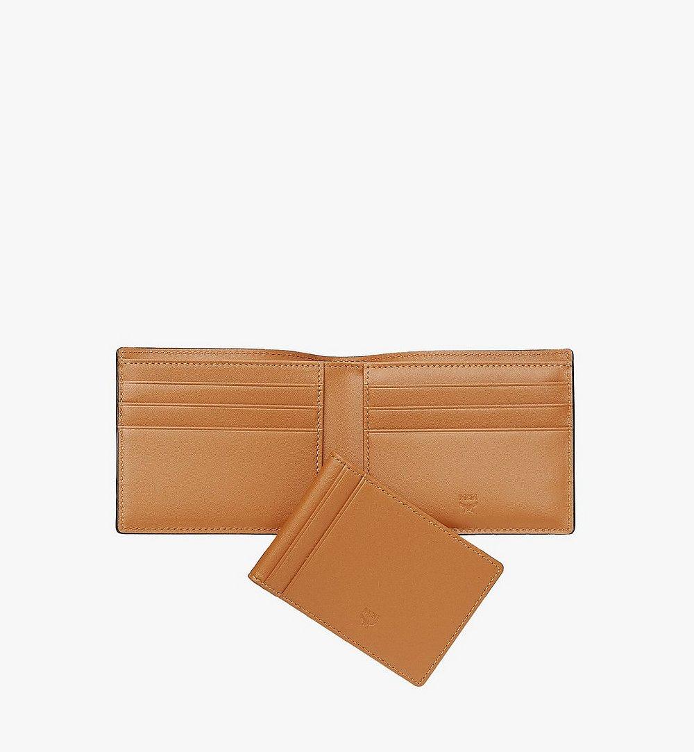 MCM Bifold Wallet with Card Case in Visetos Original Cognac MXSAAVI02CO001 Alternate View 4