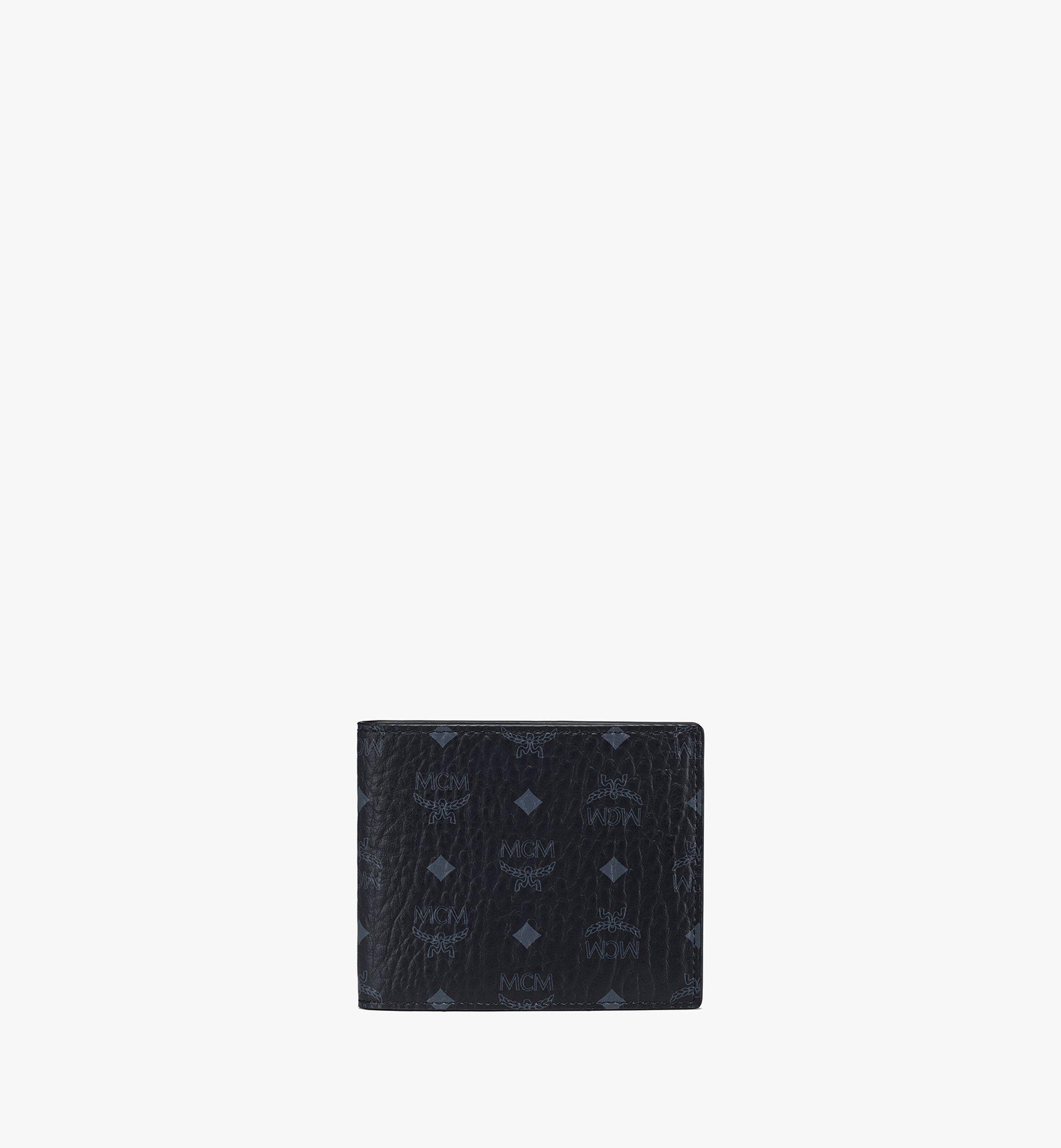 MCM Portefeuille à deux volets Original en Visetos Black MXSAAVI04BK001 Plus de photos 1