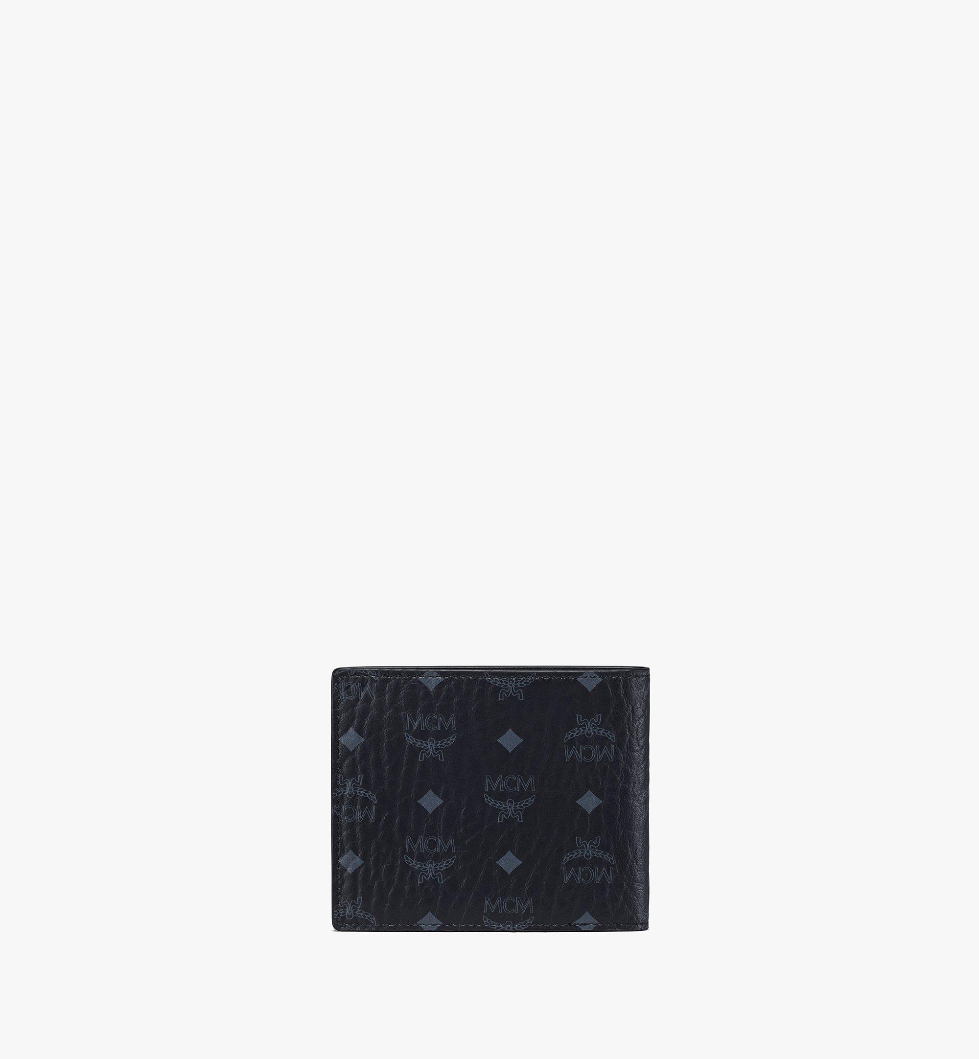 MCM Portefeuille à deux volets Original en Visetos Black MXSAAVI04BK001 Plus de photos 2