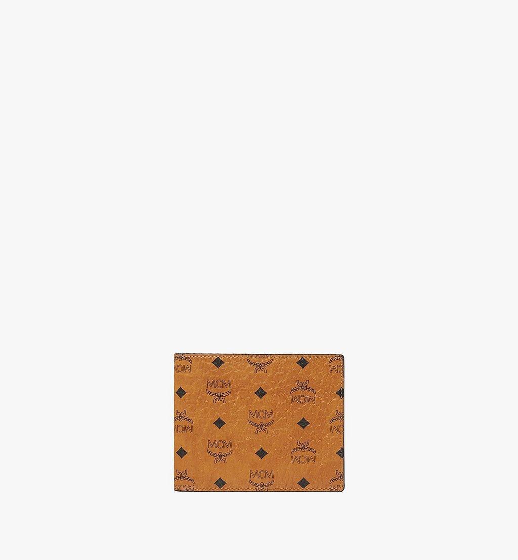 MCM Bifold Wallet in Visetos Original Cognac MXSAAVI04CO001 Alternate View 1