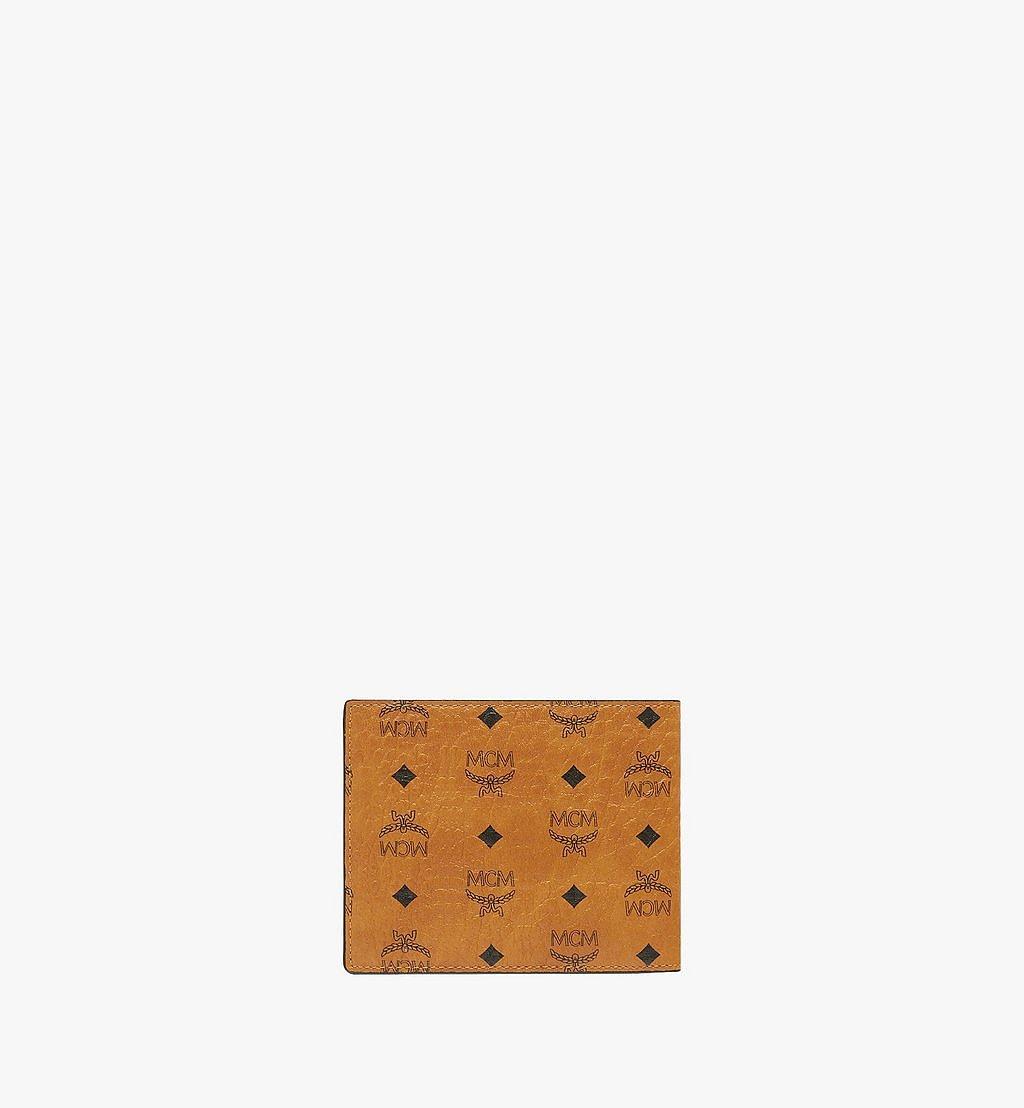 MCM Bifold Wallet in Visetos Original Cognac MXSAAVI04CO001 Alternate View 2