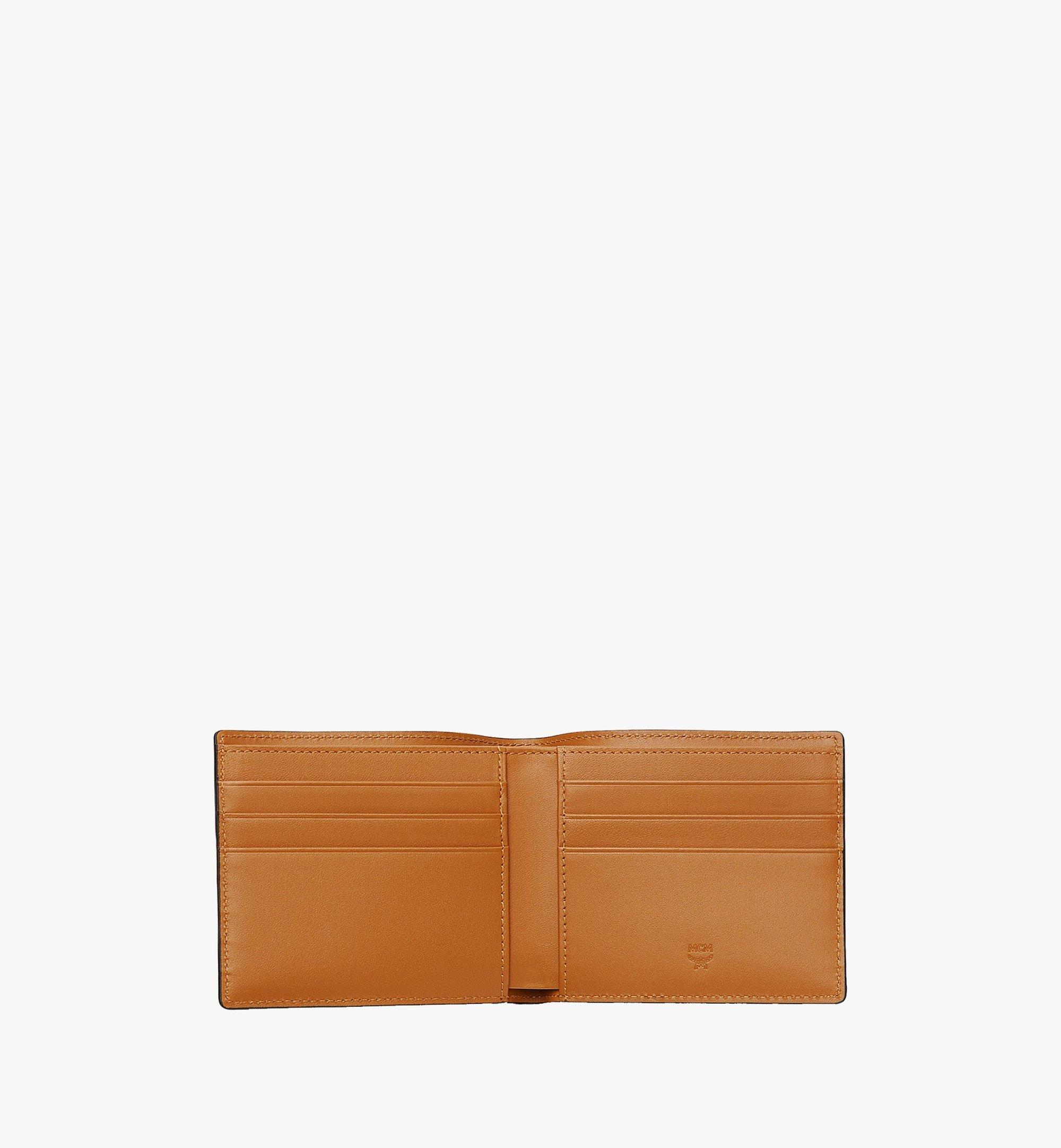 MCM Bifold Wallet in Visetos Original Cognac MXSAAVI04CO001 Alternate View 3