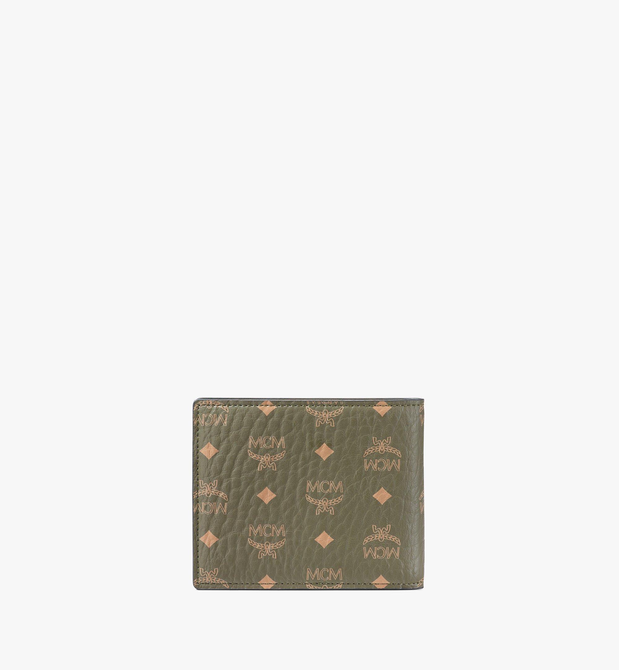 MCM Bifold Wallet in Visetos Original Green MXSAAVI04JH001 Alternate View 2