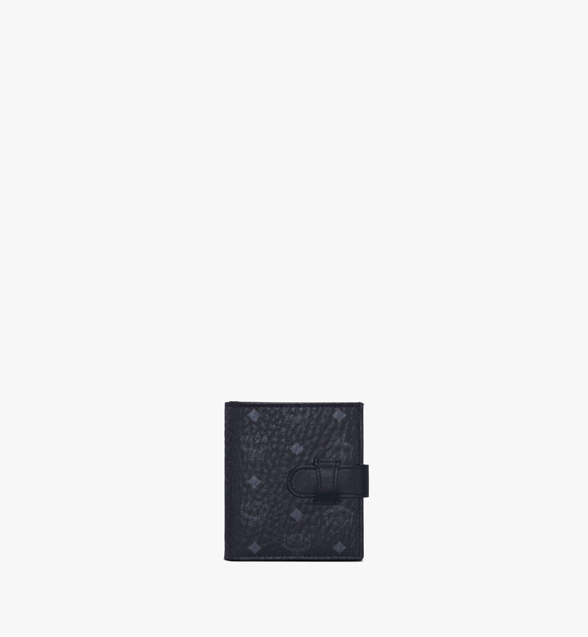 MCM Bifold Card Wallet in Visetos Original Black MXSAAVI05BK001 Alternate View 1