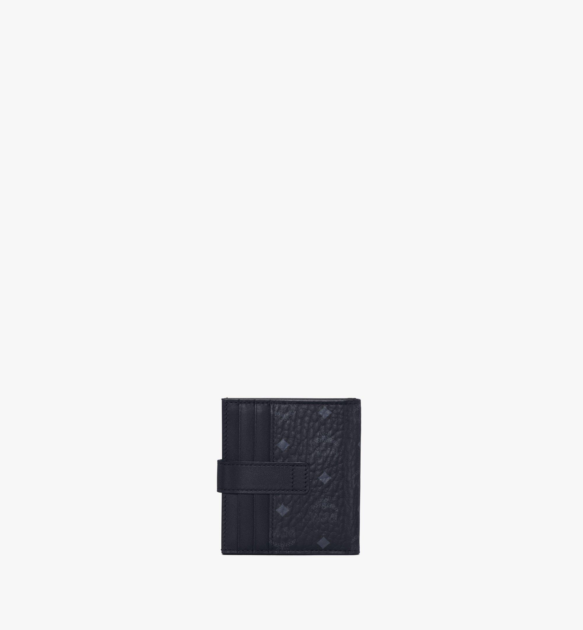 MCM Bifold Card Wallet in Visetos Original Black MXSAAVI05BK001 Alternate View 2