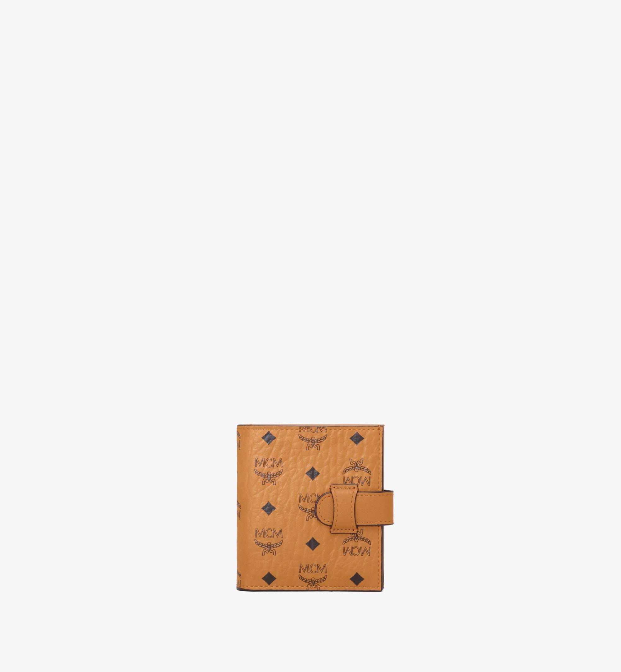 MCM Bifold Card Wallet in Visetos Original Cognac MXSAAVI05CO001 Alternate View 1
