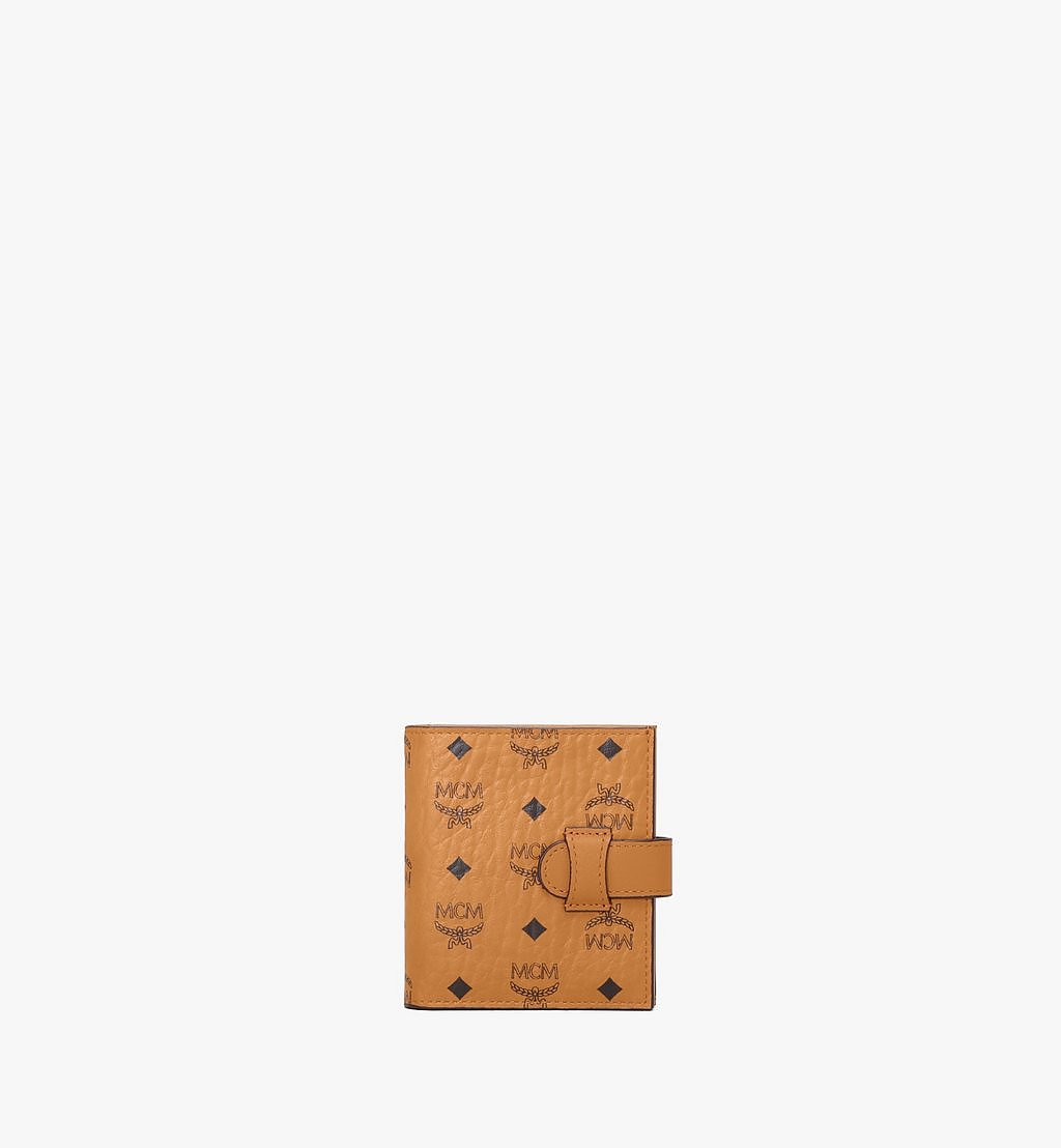 MCM Bifold Card Wallet in Visetos Original Cognac MXSAAVI05CO001 Alternate View 1
