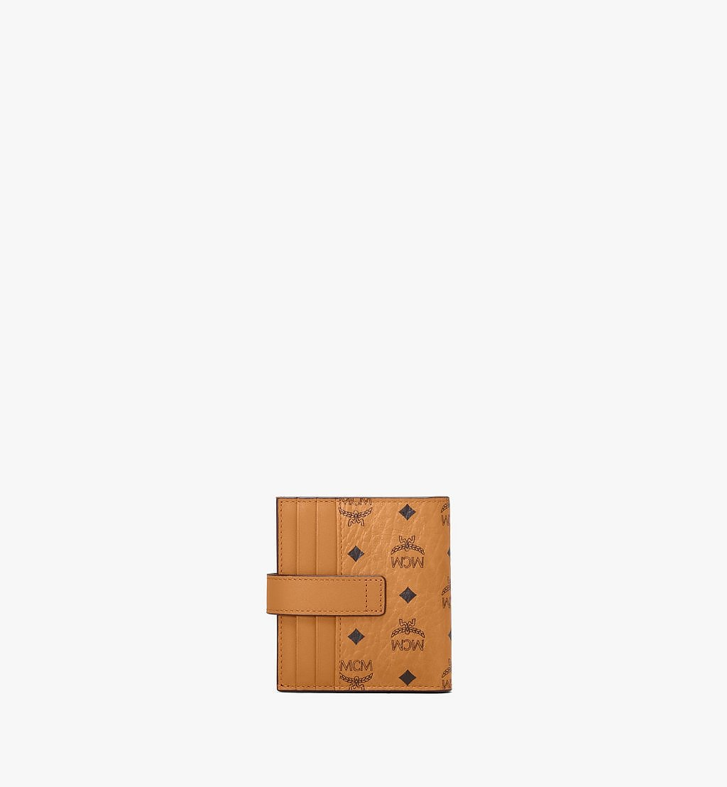 MCM Bifold Card Wallet in Visetos Original Cognac MXSAAVI05CO001 Alternate View 2