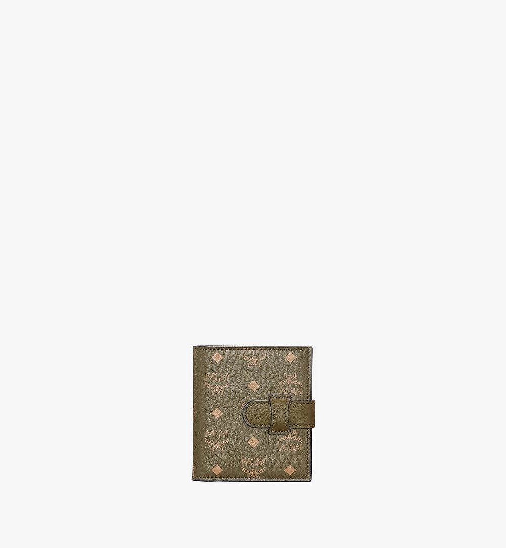 MCM Bifold Card Wallet in Visetos Original Green MXSAAVI05JH001 Alternate View 1