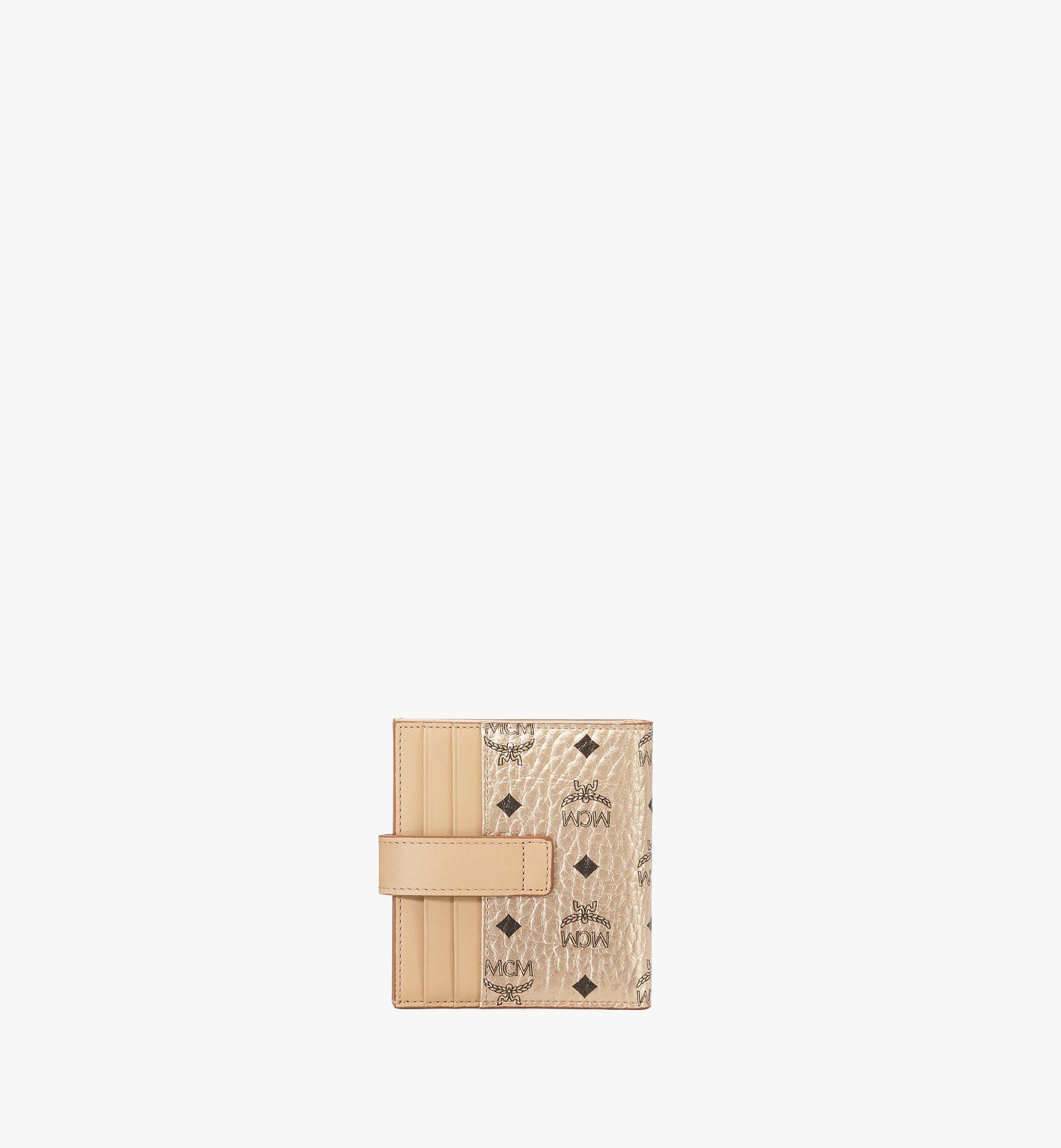 MCM Gefaltete Brieftasche für Karten in Visetos Original Gold MXSAAVI05T1001 Noch mehr sehen 2
