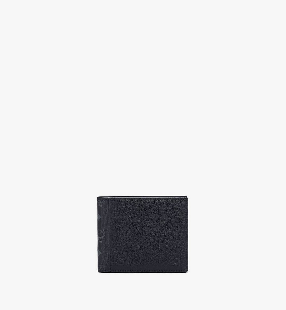 MCM Bifold Wallet in Visetos Leather Mix Green MXSAAVI07BK001 Alternate View 1