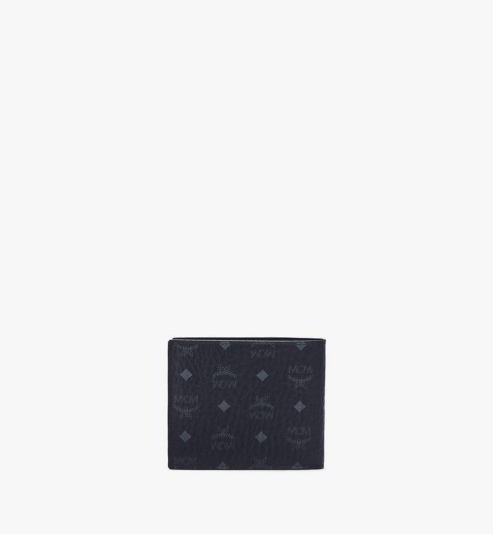 MCM Bifold Wallet in Visetos Leather Mix Green MXSAAVI07BK001 Alternate View 2