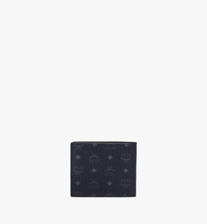 MCM Gefaltete Brieftasche in Visetos Leather Block Green MXSAAVI07BK001 Alternate View 3