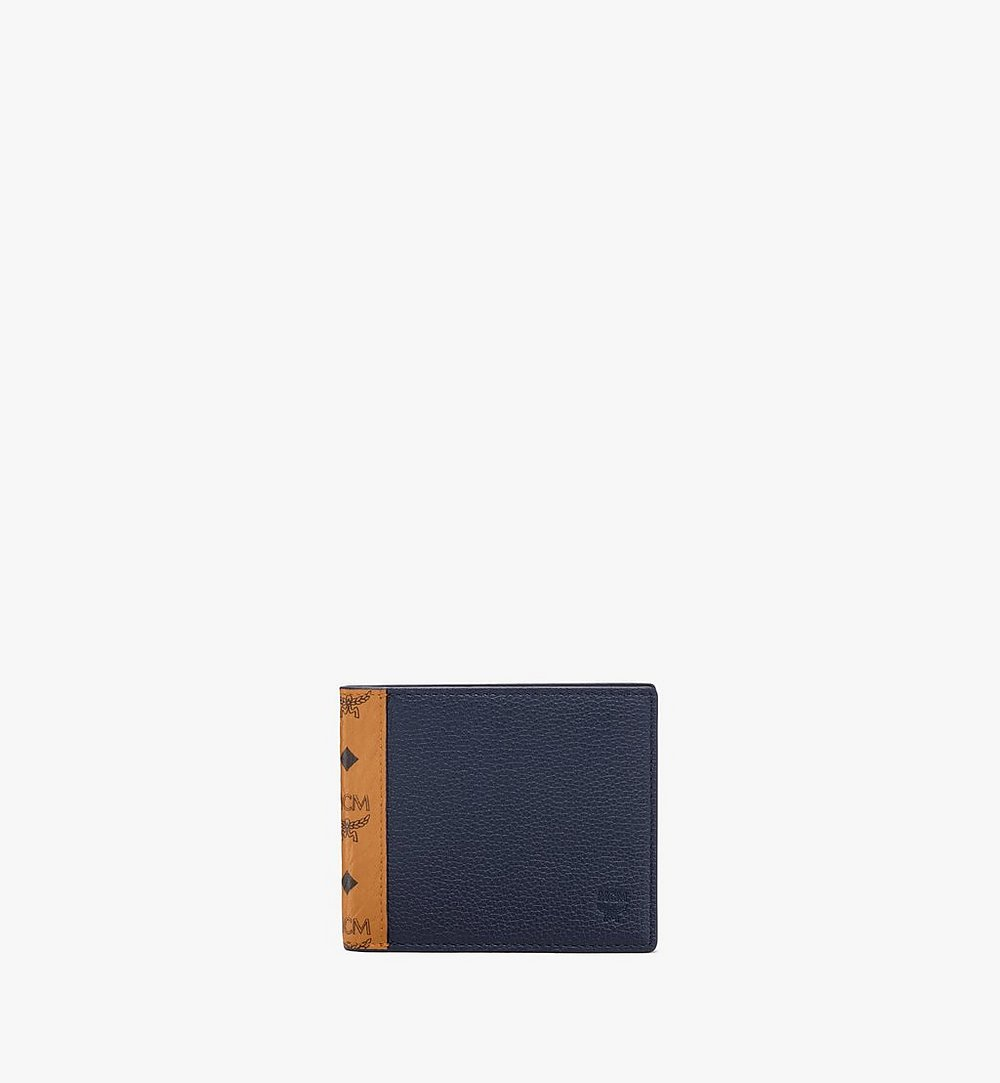 MCM Bifold Wallet in Visetos Leather Mix Black MXSAAVI07CO001 Alternate View 1