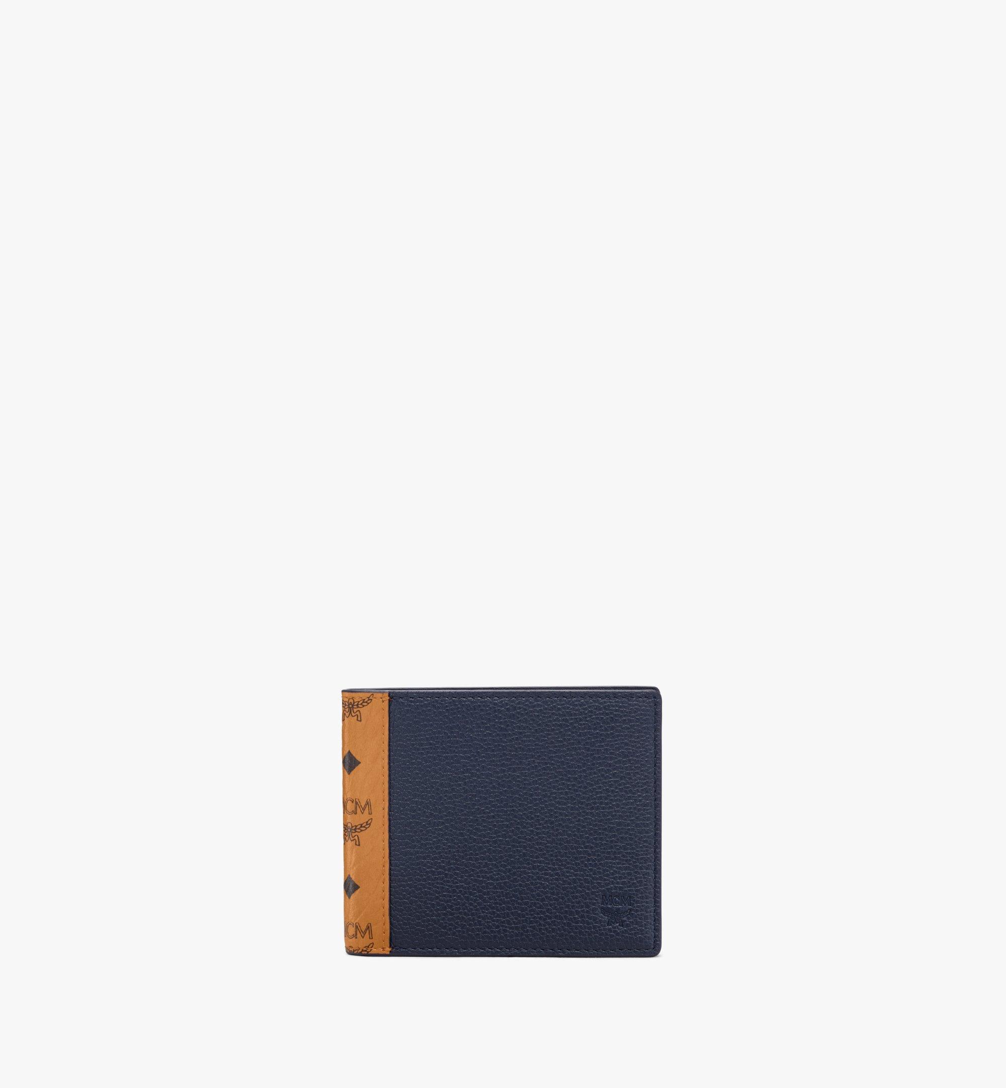 MCM Bifold Wallet in Visetos Leather Mix Cognac MXSAAVI07CO001 Alternate View 1