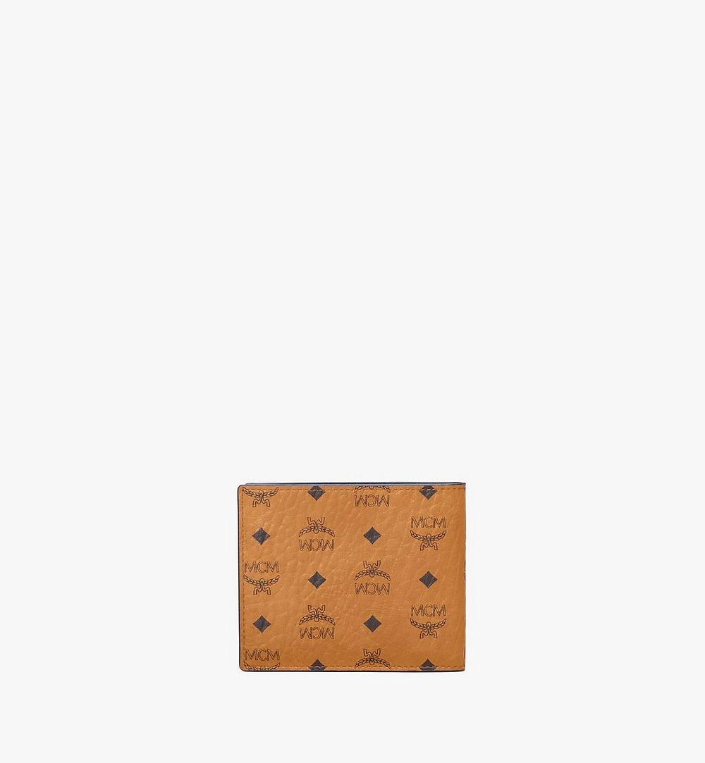 MCM Bifold Wallet in Visetos Leather Mix Black MXSAAVI07CO001 Alternate View 2