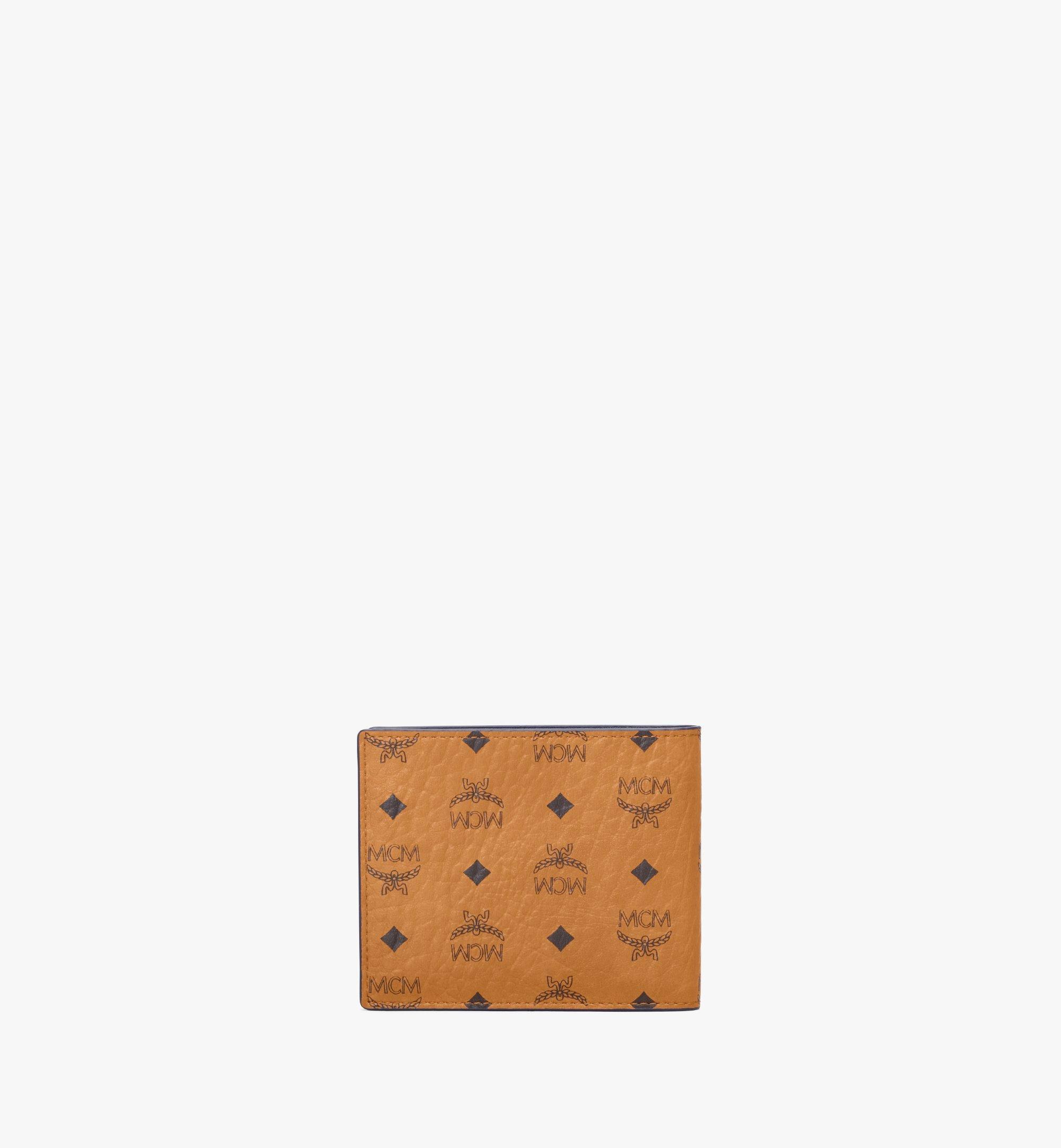 MCM Bifold Wallet in Visetos Leather Mix Cognac MXSAAVI07CO001 Alternate View 3