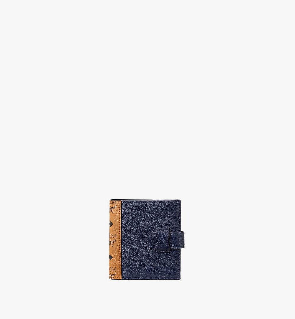 MCM Bifold Card Wallet in Visetos Leather Mix Black MXSAAVI08CO001 Alternate View 1