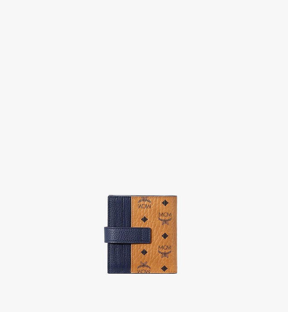 MCM Bifold Card Wallet in Visetos Leather Mix Black MXSAAVI08CO001 Alternate View 2