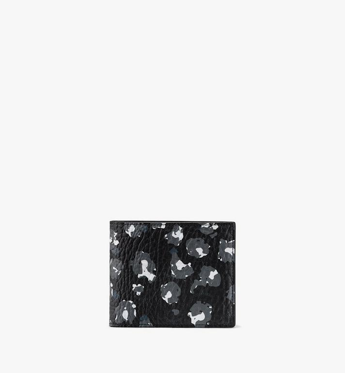 MCM Bifold Wallet in Floral Leopard Alternate View
