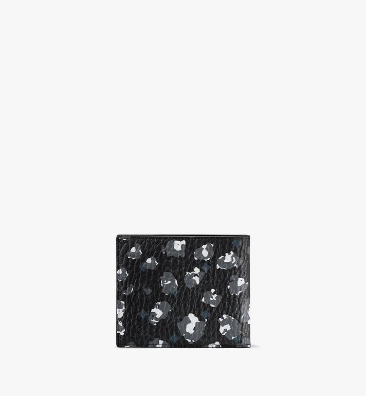 MCM 二つ折りウォレット - フローラルレオパード Black MXSASLF01B1001 Alternate View 2