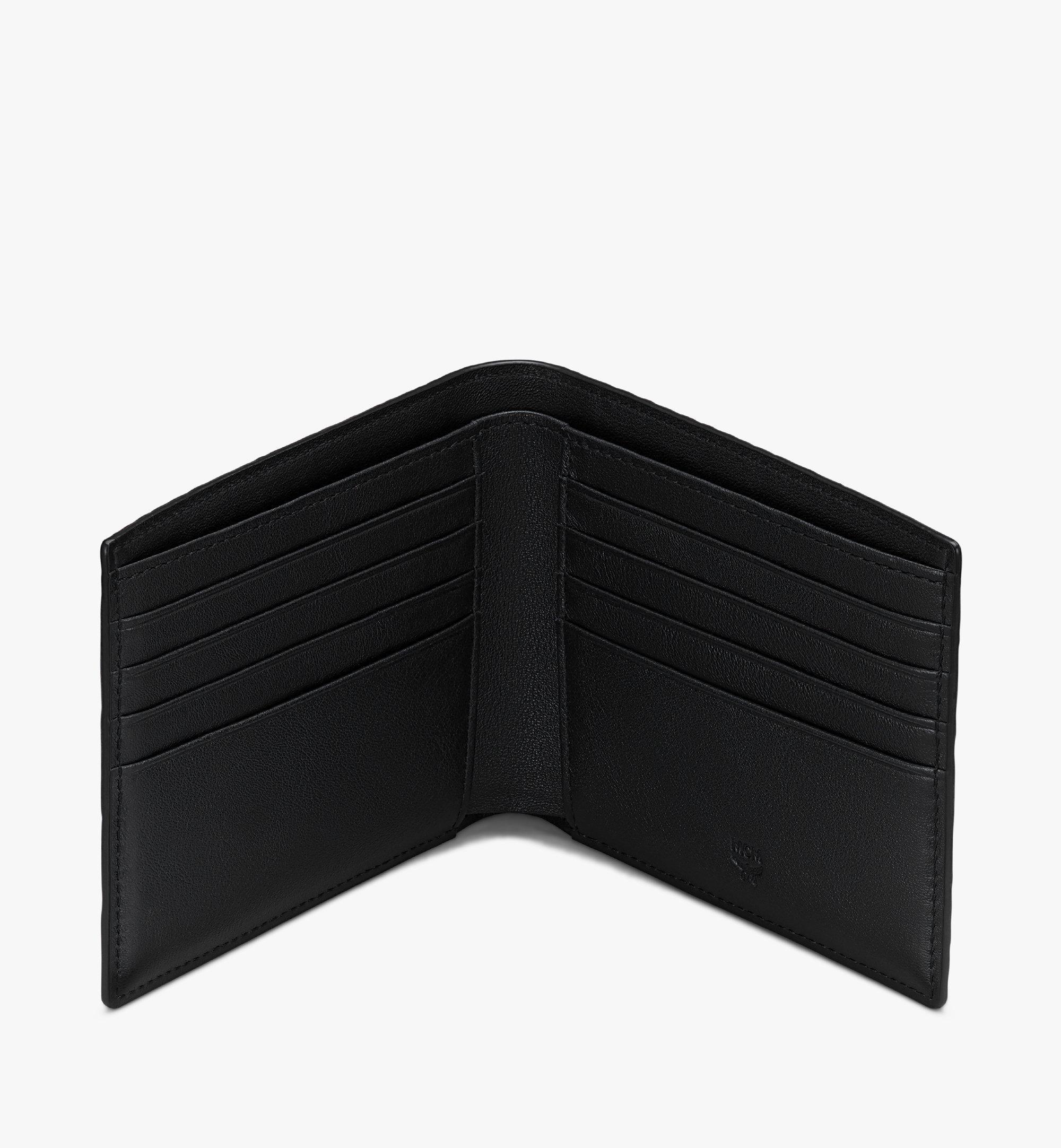MCM 二つ折りウォレット - フローラルレオパード Black MXSASLF01B1001 Alternate View 3