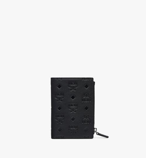 클라라 모노그램 레더 2단 카드 지갑