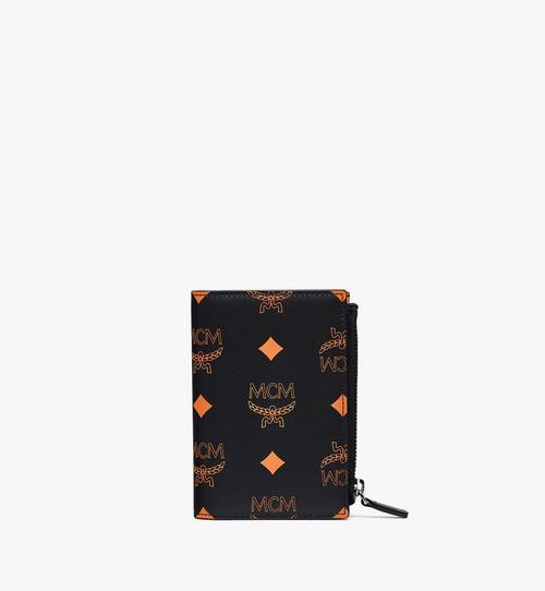 Gefaltete Brieftasche aus Leder mit Kartenfächern in Color Splash Visetos